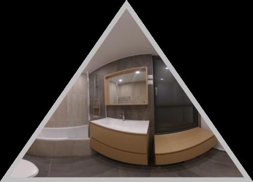 Salle de bain en 360°